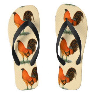 Gamecock Ginger Red Rooster Flip Flops