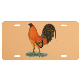 Gamecock Ginger Red Rooster License Plate
