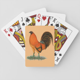 Gamecock Ginger Red Rooster Playing Cards