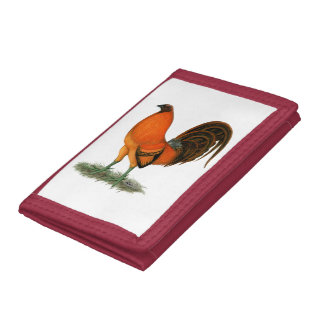 Gamecock Ginger Red Rooster Tri-fold Wallets