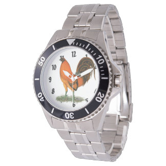 Gamecock Ginger Red Rooster Watch