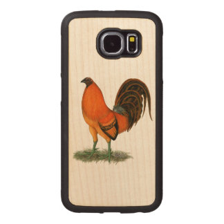 Gamecock Ginger Red Rooster Wood Phone Case