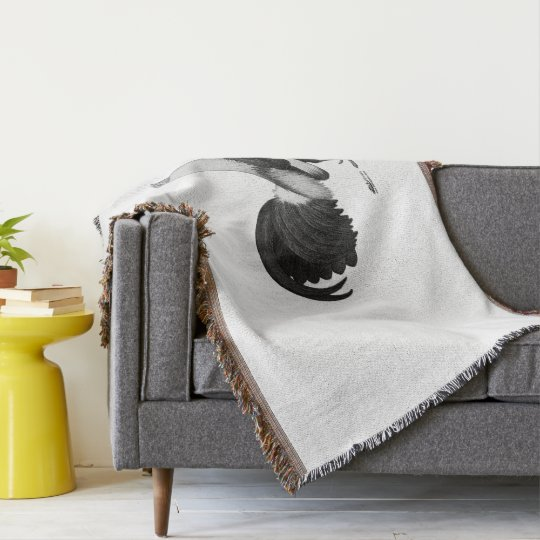 Gamecock Grey Duckwing Throw Blanket
