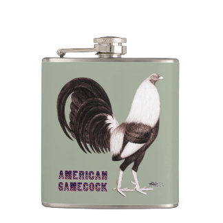 Gamecock Sepia Hip Flask