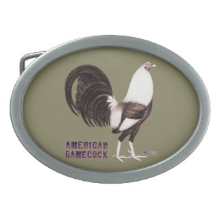 Gamecock Sepia Oval Belt Buckle