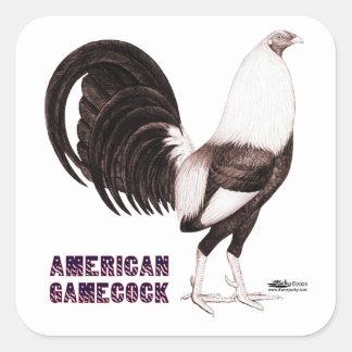 Gamecock Sepia Square Sticker