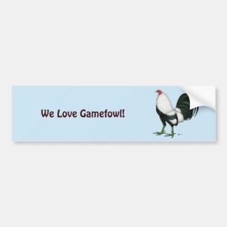 Gamecock Silver Duckwing Bumper Sticker
