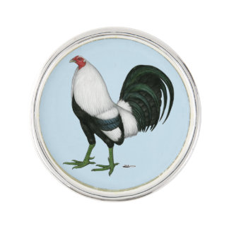 Gamecock Silver Duckwing Lapel Pin