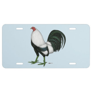 Gamecock Silver Duckwing License Plate