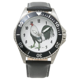 Gamecock Silver Duckwing Wristwatch
