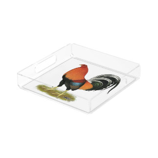Gamecock Wheaten Rooster Acrylic Tray