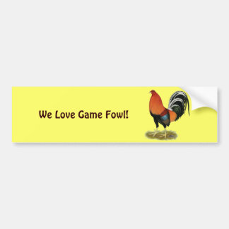 Gamecock Wheaten Rooster Bumper Sticker