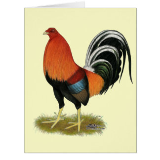 Gamecock Wheaten Rooster Card