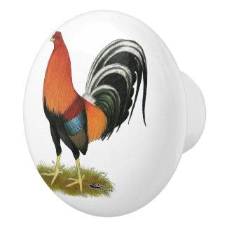 Gamecock Wheaten Rooster Ceramic Knob