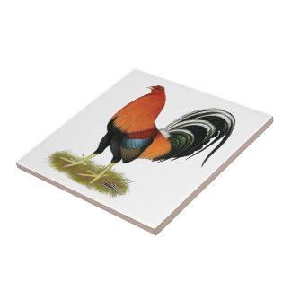 Gamecock Wheaten Rooster Ceramic Tile