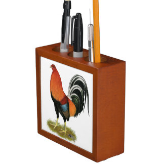 Gamecock Wheaten Rooster Desk Organizer