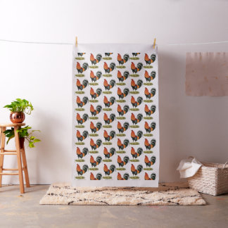 Gamecock Wheaten Rooster Fabric