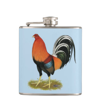 Gamecock Wheaten Rooster Flask