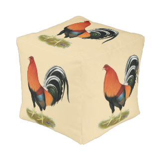 Gamecock Wheaten Rooster Pouf