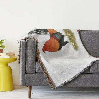 Gamecock Wheaten Rooster Throw Blanket