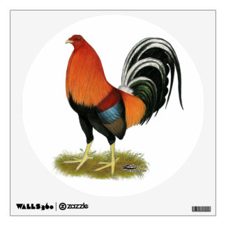 Gamecock Wheaten Rooster Wall Decal