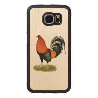 Gamecock Wheaten Rooster Wood Phone Case