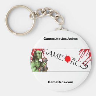 GameOrcs.com, Games,Movies,Anime Basic Round Button Keychain