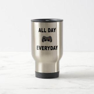 Gamer All Day Everyday 15 Oz Stainless Steel Travel Mug