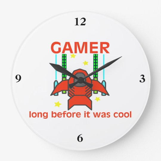 Gamer Before It Was Cool Retro Style Clock