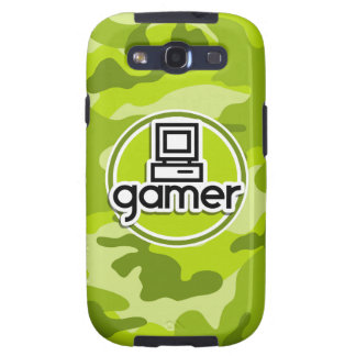 Gamer bright green camo camouflage samsung galaxy SIII covers