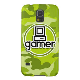 Gamer bright green camo camouflage cases for galaxy s5