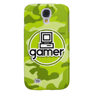 Gamer bright green camo camouflage samsung galaxy s4 covers