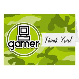 Gamer camo vert clair camouflage carte de vœux