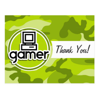 Gamer camo vert clair camouflage cartes postales
