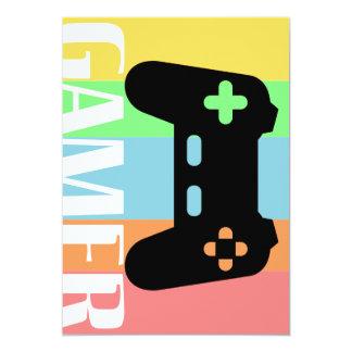 Gamer Carton D'invitation 12,7 Cm X 17,78 Cm