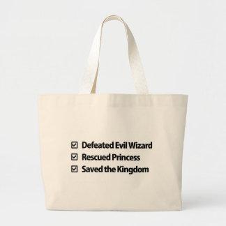 Gamer Checklist Large Tote Bag