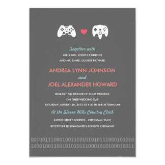 Gamer Controller Love Wedding Card