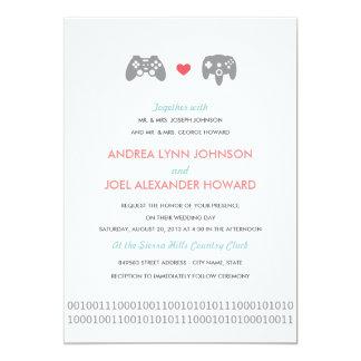 Gamer Controller Love Wedding Card