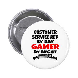 Gamer Customer Service Representative 2 Inch Round Button