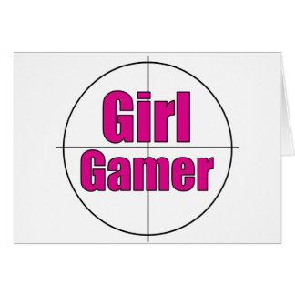 Gamer de fille carte de vœux