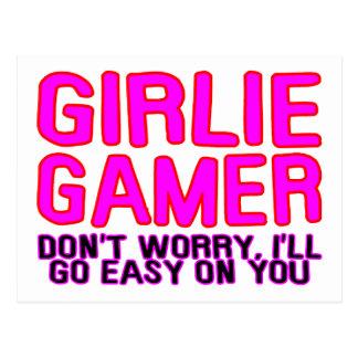 Gamer de Girlie allant facile Cartes Postales