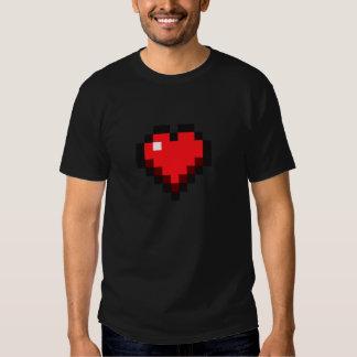 """Gamer de la """"vie d'amour"""" de coeur de pixel t-shirt"""
