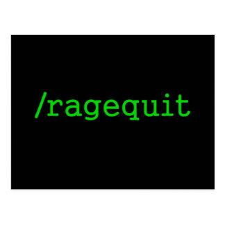Gamer de Ragequit Carte Postale