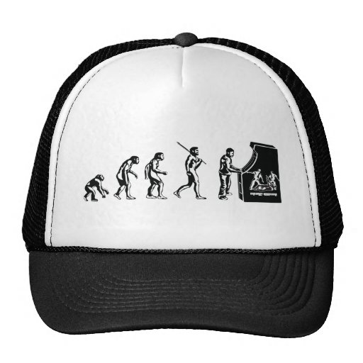 Gamer Evolution - Game Video Games Arcade Geek Trucker Hat