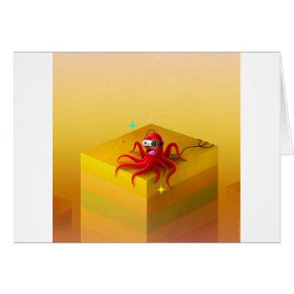 Gamer frais abstrait de poulpe carte de vœux