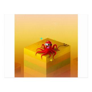 Gamer frais abstrait de poulpe cartes postales