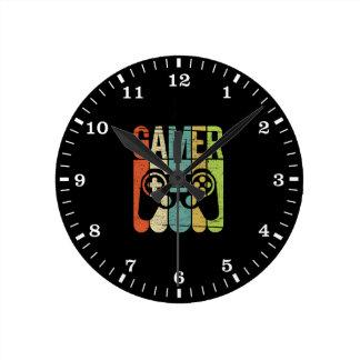 Gamer Game Controller Round Clock