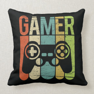 Gamer Game Controller Throw Pillow
