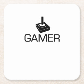 GAMER Gifts Funny Square Paper Coaster