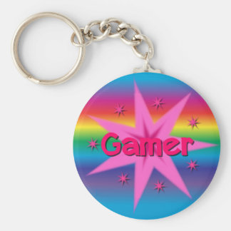 Gamer Girl Rainbow Keychain